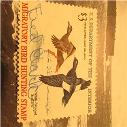 RW36 Signed U.S. Department of the Interior Migratory Bird Hunting Stamp. No gum.