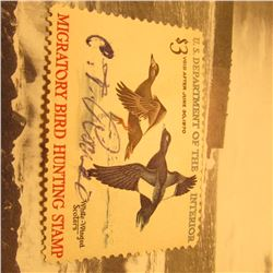 RW36 Signed U.S. Department of the Interior Migratory Bird Hunting Stamp. Partial Gum.