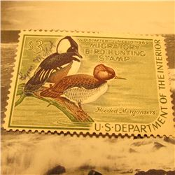 RW35 Signed U.S. Department of the Interior Migratory Bird Hunting Stamp. Partial Gum.