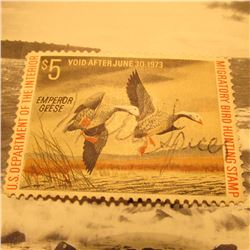 RW39 Signed U.S. Department of the Interior Migratory Bird Hunting Stamp. Partial Gum.