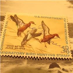 RW38 Signed U.S. Department of the Interior Migratory Bird Hunting Stamp. No gum.