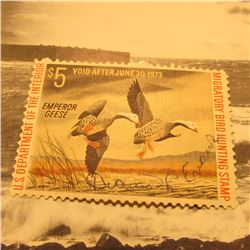RW39 Signed U.S. Department of the Interior Migratory Bird Hunting Stamp. Gum.