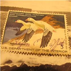 RW44 Signed U.S. Department of the Interior Migratory Bird Hunting Stamp. No gum.