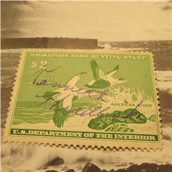 RW24 Signed U.S. Department of the Interior Migratory Bird Hunting Stamp. Partial Gum.
