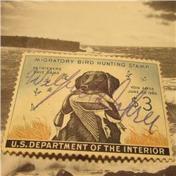 RW26 Signed U.S. Department of the Interior Migratory Bird Hunting Stamp. Partial Gum.