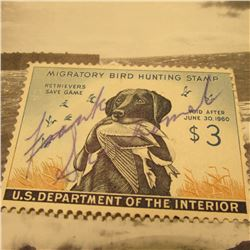 RW26 Signed U.S. Department of the Interior Migratory Bird Hunting Stamp. No Gum.