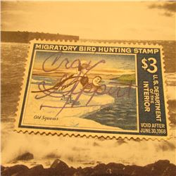 RW34 Signed U.S. Department of the Interior Migratory Bird Hunting Stamp. No Gum.