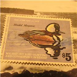 RW45 Signed U.S. Department of the Interior Migratory Bird Hunting Stamp. No Gum.
