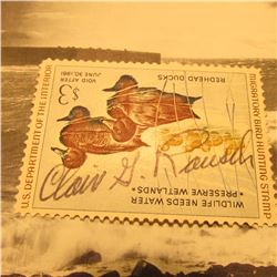 RW27 Signed U.S. Department of the Interior Migratory Bird Hunting Stamp. Partial Gum.