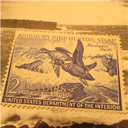 RW19 Signed U.S. Department of the Interior Migratory Bird Hunting Stamp. No Gum.