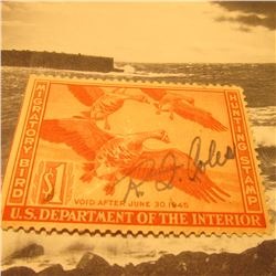 RW11 Signed U.S. Department of the Interior Migratory Bird Hunting Stamp. Gum.