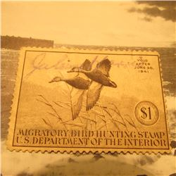 RW7 Signed U.S. Department of the Interior Migratory Bird Hunting Stamp. No Gum.