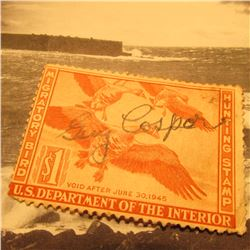 RW11 Signed U.S. Department of the Interior Migratory Bird Hunting Stamp. No Gum.