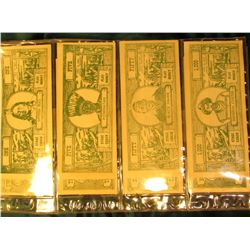 (8) Different Play Money Banknotes from the 1930 era depicting Indians. Sitting Bull, Powhatan, Blac