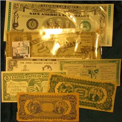 "Weird & Unusual Scrip: ""I.O.U. Tainted Bank Roll Get Busy I Need the Money"" C00; ""Tainted Counterfei"