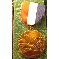 "1913 Official's medal ""Power-Transportation-Light Commemorating the Completion of the Largest Hydro-"