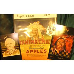 """Yakima Chief…Apples"" Crate Label; (2) different Postcards ""Thomas Moxby Gallery Presents Tomas Lasa"
