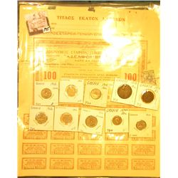 World War II Greece Bond $100 with all coupons attached; & (10) Various coins from Greece dating 187