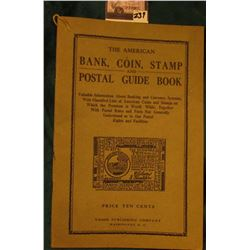 """The American Bank, Coin, Stamp and Postal Guide Book"", printed by Union Publishing Company Washingt"