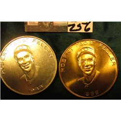"""Robert ""BOB"" Feller/1966"", ""30th Anniversary of Bob Feller's 1st Major League Game"" 39mm Medals, On"