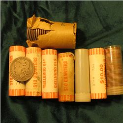 BU Statehood Quarter Rolls: 2001 Kentucky, 2002 Indiana, 2002 Tennessee; 2007 Utah; & 2003 Arkansas;