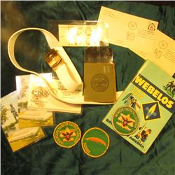 "A Nice Grouping of Boy Scout material: ""Webelos Scout Book""; ""Assistant Senior Patrol Leader"", ""Scri"
