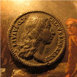 """1677 Medal. ANNO II. """"Iovanna. Soror Cariss"""", """"LivivsOdrs. Calvs.Inn.XI.Nep"""". High relief. Appears t"""
