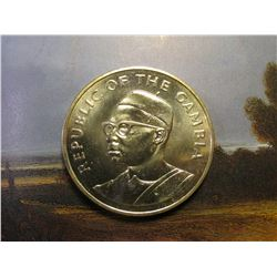 1965-1975 Republic of Gambia 10 Dallasis .500 fine Silver. 10th Anniversary of Indendence. Gem BU. K
