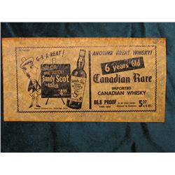 """$1000 Advertising Note on facsimile """"Sandy Scot Scotch"""""""