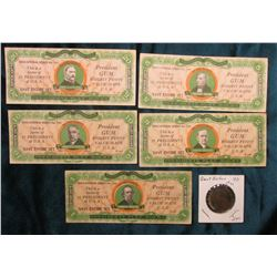 Five-piece Set Educational Series No. 101. (5) different Presidents; & 1831 Great Britain Half Penny