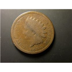 1864 L Civil War Indian Head Cent. Good.