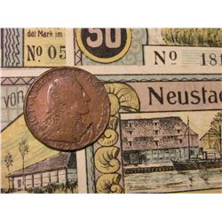 1794 Sardinia, Italy Five Soldi, C51, VF; & a Set of 4 different Neustadt, Germany Notgeld.