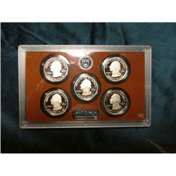 2012 S U.S. Five Piece National Park Quarters Proof Set in government issued plastic case, no box.