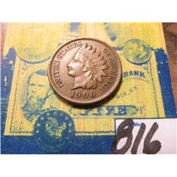 1900 Indian Head Cent. EF.