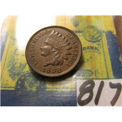 1898 Indian Head Cent. EF.