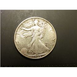 1936 D Walking Liberty Half Dollar. EF 40.
