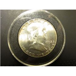 1952 D Franklin Half Dollar.  MS 64 FBL.