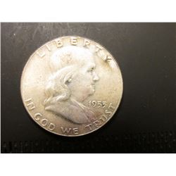 1953 P Franklin Half Dollar. MS 63.