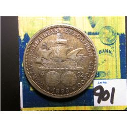 "1893 Columbian Exposition U.S. Commemorative Half Dollar. Counterstamped ""1992"". EF."