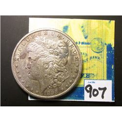 1898 S Morgan Silver Dollar. Toned AU.