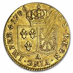 1786-A France Gold Louis D'or. More Than 200 Years Old!