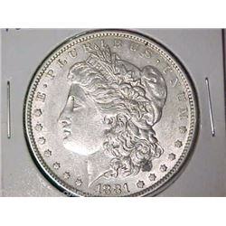 1881-O-Morgan-Silver-Dollar AU-58