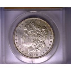 1878-S Morgan Silver Dollar - ANACS MS 61 - Mint Error VAM 39