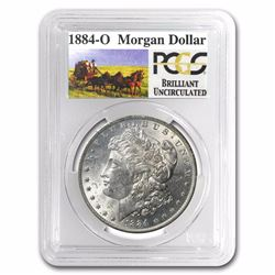 1884-O PCGS GRADED Stage Coach Silver Dollar BU RARE STAGECOACH SERIES