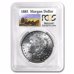 1885 PCGS GRADED Stage Coach Silver Dollar BU RARE STAGECOACH SERIES