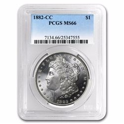 1882-CC Morgan Dollar MS-66 PCGS RARE HIGH GRADE