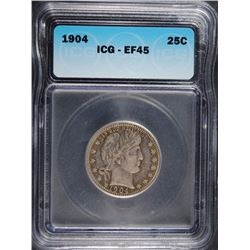 1904 BARBER QUARTER, ICG EF-45