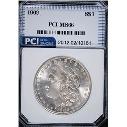 1902 MORGAN SILVER DOLLAR, PCI SUPERB GEM BU