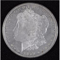 1879 MORGAN SILVER DOLLAR, CHOICE BU++ N PROOF-LIKE  CLOSE TO DMPL