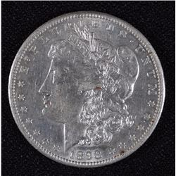 1898-S MORGAN SILVER DOLLAR, CHOICE BU SEMI PROOF-LIKE